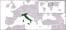 Location of Italy